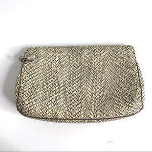 Cole Haan Snake Skin Pattern Magnetic Clutch